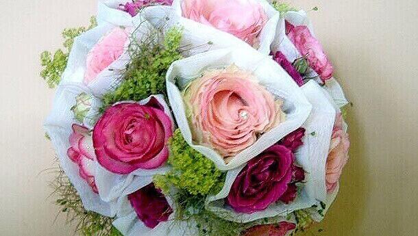 Brautstrauß in Pink vom Blumenhaus Ehling