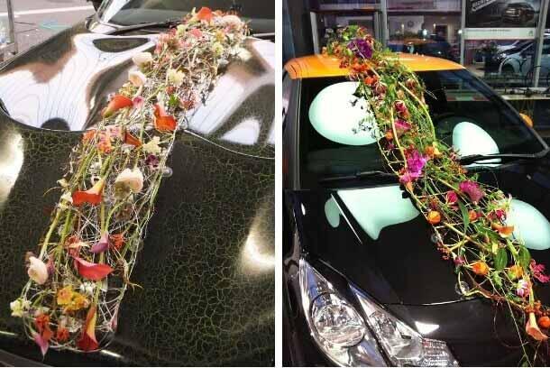 Florales für das Fahrzeug